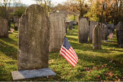 THE BURYING GROUND IN PLYMOUTH PHOTOGRAPHED BY MIKE YAMIN