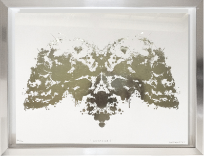SILDER GUILDED INK BLOT WALL ART BY RON NORSWORTHY